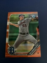 2019 Bowman Chrome Prospects Orange Shimmer Refractor /25 Beau Burrows #... - $19.80