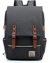 Backpack College School Bag Fits 15-inch Laptop with Kenox Vintage Lapto... - $44.99
