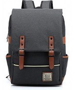 Backpack College School Bag Fits 15-inch Laptop with Kenox Vintage Lapto... - £25.32 GBP+