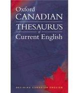 Oxford Canadian Thesaurus of Current English [Paperback] Barber, Katheri... - $14.69