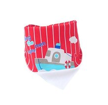 (Steamship) Pure Cotton,3Pcs Baby Neckerchief/Saliva Towel For Baby