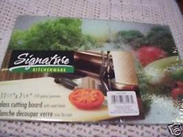NEW Signature Glass Cutting Board FRESH VEGTABL... - $7.66