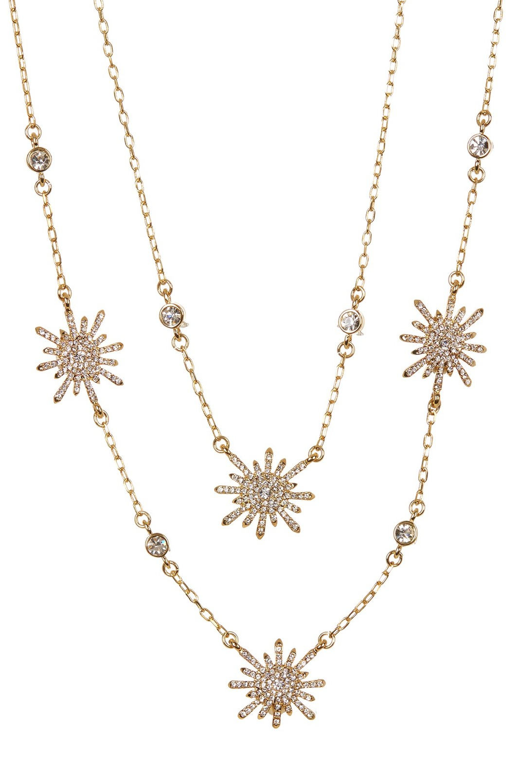 Primary image for Vince Camuto™ Goldtone Double Layer Pave Sunburst Necklace