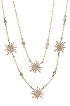 Vince Camuto™ Goldtone Double Layer Pave Sunburst Necklace   - $50.00