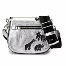 Marc Jacobs Gotham Flocked Animals Small Saddle Bag in Acciaio - $212.85