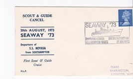 BOY SCOUTS FIRST SCOUT & GUIDE CRUISE S.S. NEVASA SOUTHAMPTON 8/20/1973 - $1.98