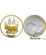 Alaska Mint WOLF TRACKS Gold & Silver Medallion Proof - $96.02