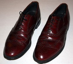 Vintage Dexter Leather Reddish Brown Mahogany Size 11 Brogue Wingtip Sho... - $39.99