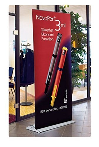 "Champion Roll Up Retractable Banner Stand with Custom Printed 33-7/16"" wide x 84"