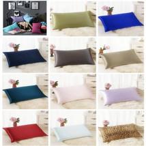 Silk Sofa Bed Rectangle Cushion Cover Throw Pillow Case Pillowcase Simpl... - $0.98+