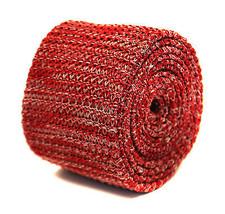 Frederick Thomas meliert rot & weiß Skinny gestrickt WOLLKRAWATTE ft2205 - $24.22