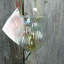 Vintage Lantern Candle Christmas Ornament Silvestri Light Up Tree Irides... - $41.99