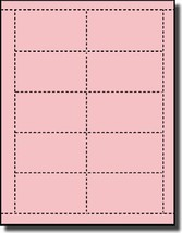 200 Label Outfitters Pastel Pink Laser and Inkjet Printable Business Cards 20 Sh