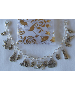 Kittens Cats Mouse Mice Theme Charm Bracelet SP Handcrafted  + Organza G... - £15.89 GBP