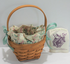 Longaberger Basket May Series Lily of the Valley 1993 with Liner - $28.84