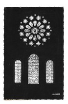 France Chartres Cathedral Notre Dame West Rose Window La Cigogne RPPC Postcard - $4.99