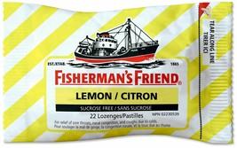 6 PACK Fisherman's Friend LEMON Cough Suppressant Lozenges 22 EACH, 132 ... - $16.88