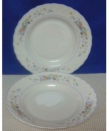 "Lot of 2 Arcopal VICTORIA 9"" Rimmed Soup Bowls Made in France Swirl Edge... - $19.39"