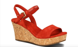 New in box Ugg W D' Alessio Wedge Sandal Tomato Sz 11 $110 - $39.99