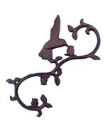 "Hummingbird S Style Plant Hook Cast Iron Flower Basket Hanger 11.25"" - $15.83"