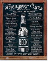 Hangover Cures World Party Beer College Funny Humor Wall Decor Metal Tin Sign - $15.99