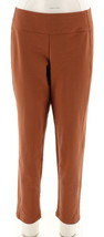 Women with Control Slim Leg Contour Waist Pants Tabacco PL NEW A241129 - $23.74
