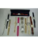 """Lot of 12 Wrist Watches - Orvis/Pulsar,Geneva/Timex/Elgin/Etc. - Sold """"A... - $50.23"""