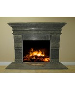 Green Stone Fireplace Surround Mantel Travertine Marble Living Room Grea... - $3,398.00