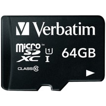 Verbatim(R) 44084 64GB Class 10 microSDXC(TM) Card with Adapter - $44.21