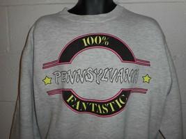 Vintage 80s 90s 100% Pennsylvania Fantastic  Neon Sweatshirt L/XL - $24.99