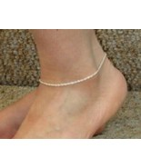 Rope Chain Anklet - 9 inch* (1.4mm* wide) - Sterling Silver - Made Italy - $12.25