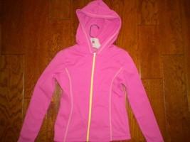 Marika Size Medium (10/12) Pink Hooded Full Zip Girls Hoodie Sweatshirt - $9.90