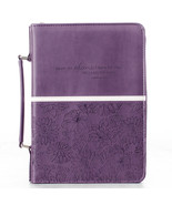 Bible Cover Brand NEW I Know The Plans Jer. 29:11 Large Purple 10 1/8x 7... - $26.53
