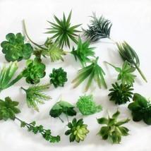 Mini Artificial Succulents  Plants Green Fake Simulation Succulents Orna... - $5.96