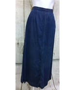 Boston Proper (Sz 10) Maxi Tencel Denim Straight Women's Skirt W/ Back Slit - $18.78