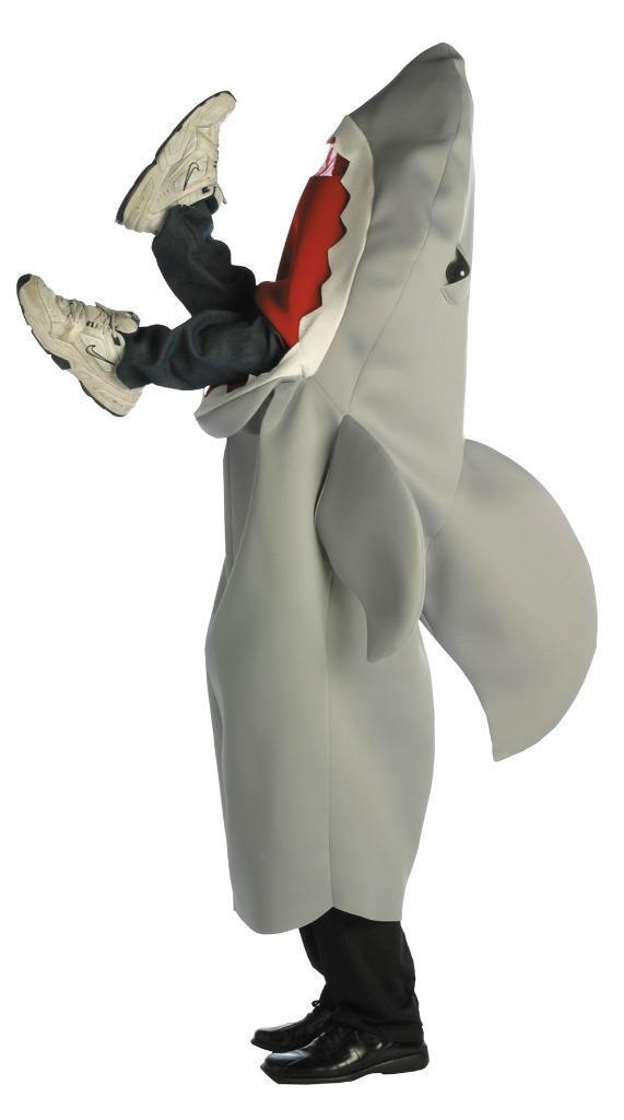 Man Eating Shark Costume Adult Tunic Men Women Animal Halloween GC7136