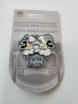 Disney Epcot Food And Wine 25th Anniversary Mickey And Minnie Pin LR New - $2.97
