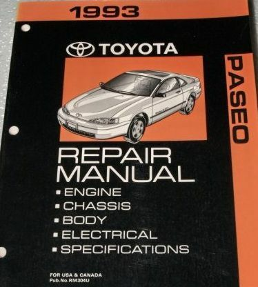 Primary image for 1993 toyota paseo service repair workshop oem factory manual 93