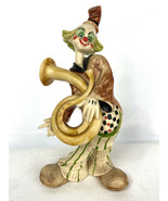 Vintage Italian Resin Clown Figure Made in Italy 8 inches tall - $39.95