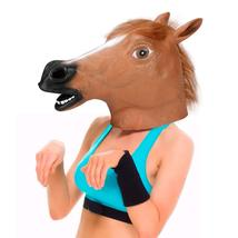 Horse Head Mask Novelty Halloween Costume Party Props Latex Animal Head ... - £9.25 GBP
