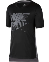 Nike Boys Black and Grey Dri Fit Training T Shirt Small New AQ9555 - $16.82