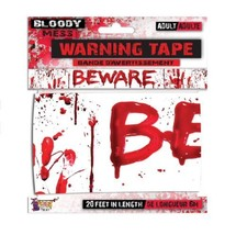 Forum Halloween Scary Horror Bloody Handprints 20' Party Tape White Red - $5.23
