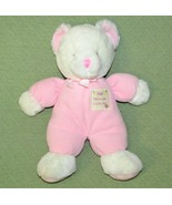 """Russ BABY PINK Teddy RATTLE GOD BLESS Our Little One Bear Plush 14"""" Girl... - $29.69"""