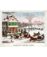 4108.American Winter Scene.Horses running in snow.POSTER.Home School art decor - $10.89 - $69.30