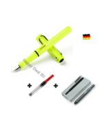 Lamy Safari Neon Green Fountain Pen F Nib with Free Converter + 5 black ... - $24.23
