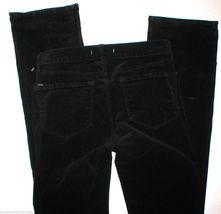 New $248 J Brand Jeans Womens Black Mid Straight Leg Velvet 805 Tall 28 Corduroy image 3