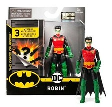 """The Caped Crusader Robin 4"""" Action Figure with 3 Mystery Accessories MOC - $14.88"""
