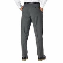 NWT Kirkland Signature Men's Wool Flat Front Dress Pants Slacks GRAY image 2