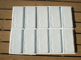 SIX 6x12 DIY RUSTIC CONCRETE BRICK MOLDS MAKE BRICK VENEER WALL TILE FOR PENNIES image 3