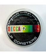 Set of 6 Vintage Vinylux Recycled LP Record Label Design Beverage Coasters - $9.99